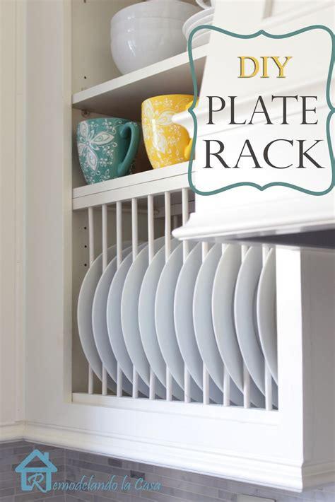 diy  cabinet plate rack diy plate rack kitchen cabinet remodel cabinet plate rack