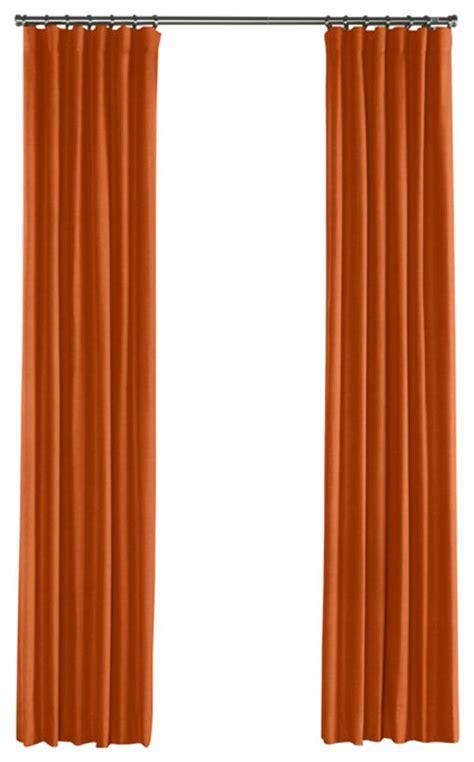 burnt orange linen curtain ring top contemporary