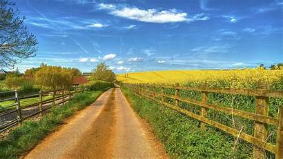 4k Field Road Ultra Landscape Wallpapers Country