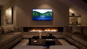 contemporary fireplace designs with tv above ward log homes With enchanting modern gas fireplace for a living room