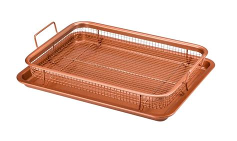 air crisper fryer tray oven copper chef kitchen amazon included fryers basket