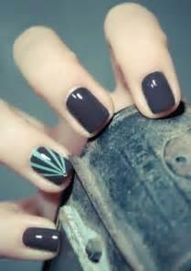 Grey nail art for short nails styles weekly