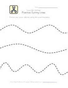 Preschool Cutting Practice Lines Worksheets