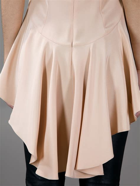 alexander mcqueen fishtail blouse  nude pink lyst