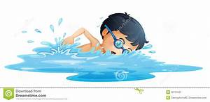Boy clipart swimming - Pencil and in color boy clipart ...