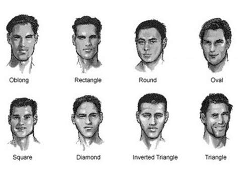 mens face shapes  hairstyles haircuts suit      p