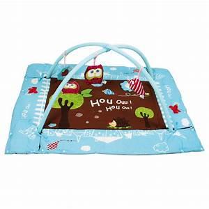 tapis d39eveil chouette bleu la grande recre vente de With tapis d éveil rectangulaire