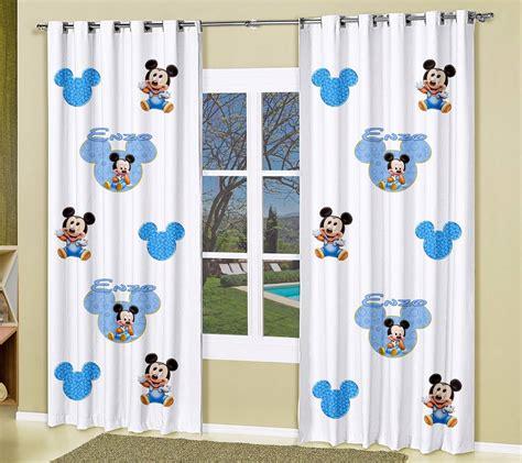 cortinas mickey cortina infantil mickey baby azul 2 00 l x 2 20 a r 169