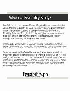 fancy financial feasibility study template gift With real estate feasibility study template