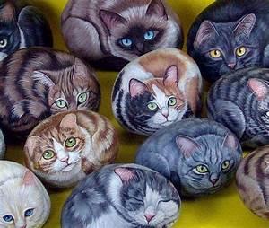 Steine Bemalen Katze : 20 gattini particolare steinkunst ~ Watch28wear.com Haus und Dekorationen