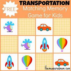 Free Matching Memory Game For Kids Transportation  Memory Games, The O'jays And Mom