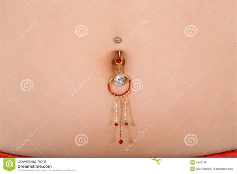 Piercing On Umbilical Cord Stock Photo Image Of Person