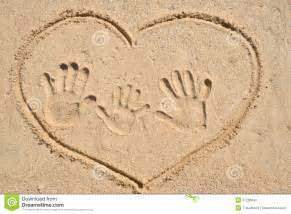 Family Hand Prints with Heart