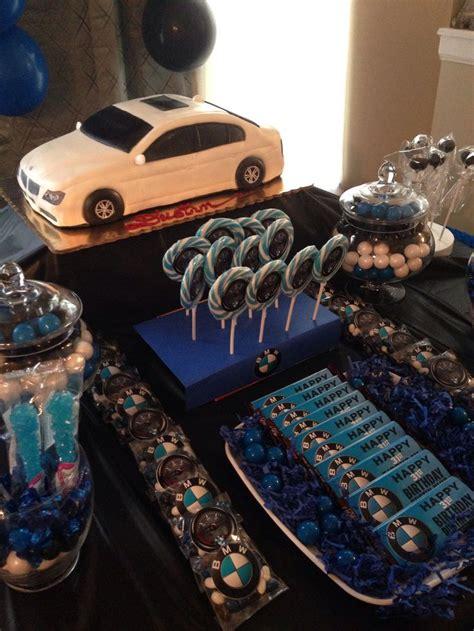 husbands bmw birthday party theme cars theme