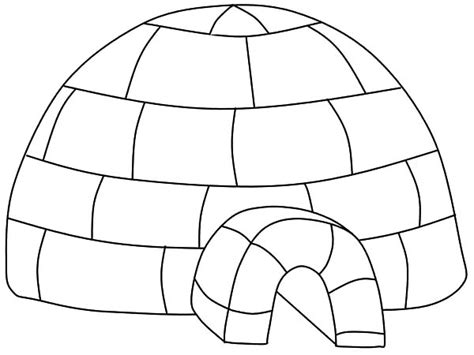 Penguin Igloo Coloring Page