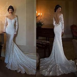 fashion boho backless wedding dress 2017 long sleeve With backless wedding dresses 2017