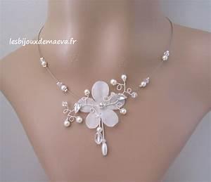 bijoux mariage collier fleur perles et strass flamboyante With bijoux fantaisie mariage strass