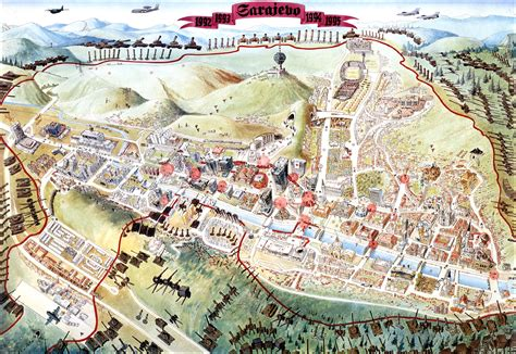 siege of sarajevo sarajevo survival map 1992 1996 sarajevo mappery
