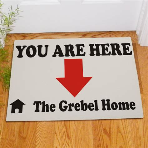 You Are Here Doormat by Personalized You Are Here Doormat Giftsforyounow
