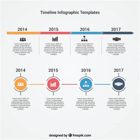 Free Timeline Template Infographic Timeline Template Vector Free