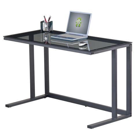 staples glass desk black glass desk staples 174