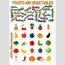 Fruits And Vegetables  Interactive Worksheet
