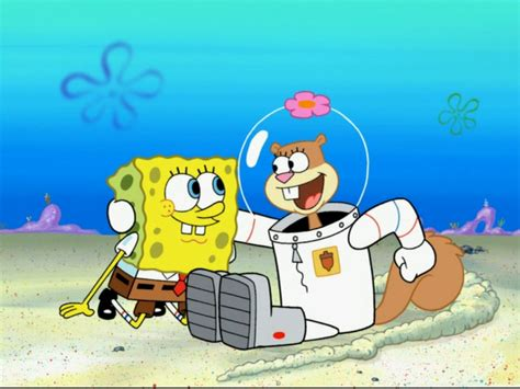 Spongebob And Sandy Stick Together.png