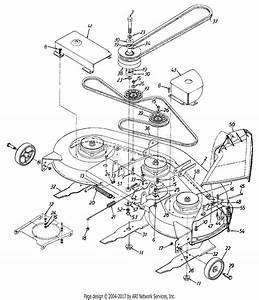 Mtd 13as699h062  1997  Parts Diagram For Deck Assembly 46