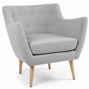 Canapé Et Fauteuil Scandinave : fauteuil scandinave stuart tissu gris pas cher scandinave deco ~ Teatrodelosmanantiales.com Idées de Décoration