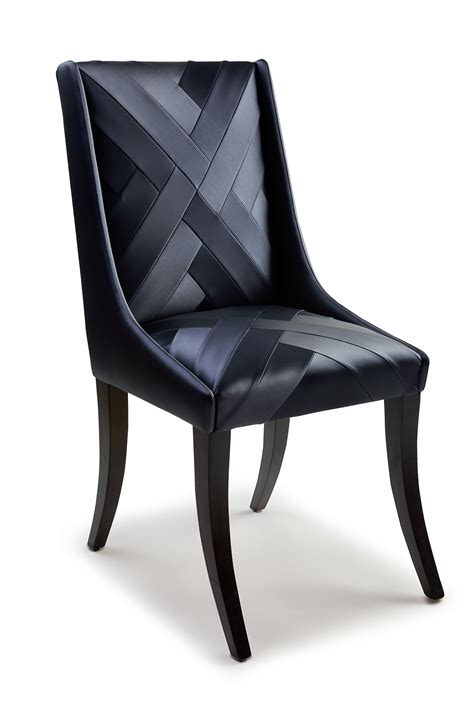 chevron dining chair black vinyl dining chair upholstered  chevron detail interiors