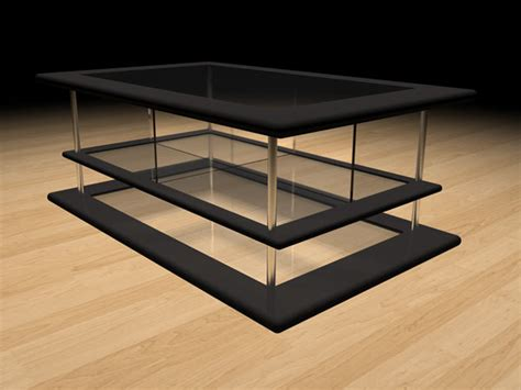 modern design coffee table ds  studio max software