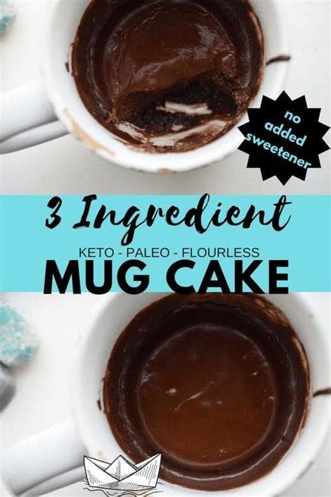 easy keto mug cake  ingredient dairy  paleo nut