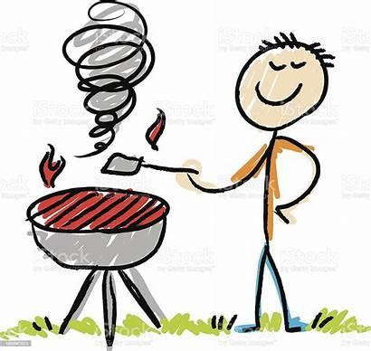 Bbq Stick Figure Illustration Barbecue Vector Istock