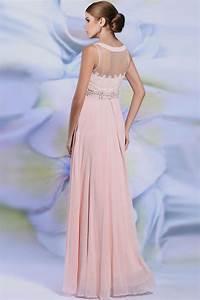 robe concert longue en mousseline rose poudre jmrougefr With rose poudré robe