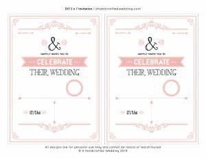 diy blush pink wedding invitation template with border 2 With wedding invitation templates 2 per page