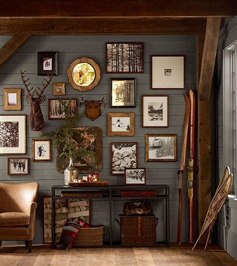 rustic wall ideas rustic gallery wall cabin fever pinterest rustic frames and cabin