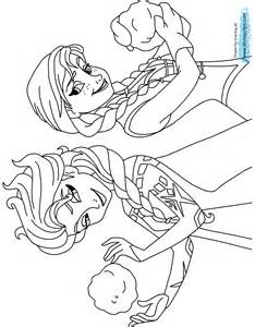 Fever Coloring Pages Anna and Elsa Frozen
