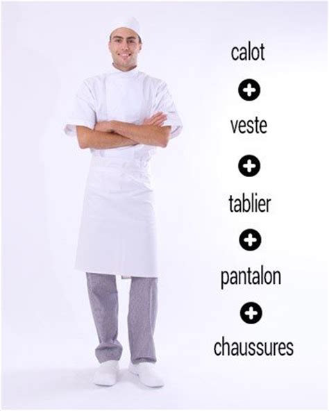 vetement de cuisine et tenue de cuisine restauration