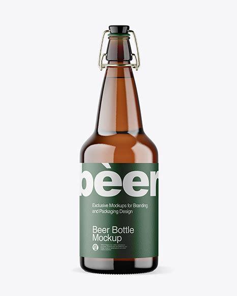 Free beer bottle mockup prepared in three high resolution psd files. Download Psd Mockup Alkaline Water Amber Amber Bottle ...