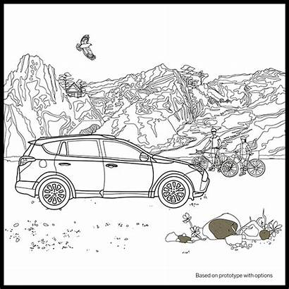 Coloring Toyota Adult Pages Own Rav4 Pigment