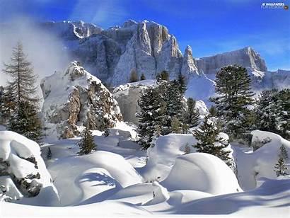 Winter Rocks Mountains Desktop Wallpapers Gragorek Published