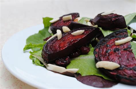 grilled beets grilled beet salad with almonds and dried cranberries