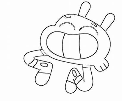 Darwin Watterson Gumball Coloring Pages Amazing Jump