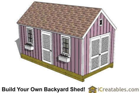 10 x 16 colonial shed plans 10x24 colonial garden shed plans