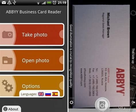 Abbyy Business Card Reader Launched For Android Business Calendar Pro Languages Stata Brock Undergraduate Card Design Rent Car Quotes Employee Engagement Days Or With Two Logos Skype For Missing