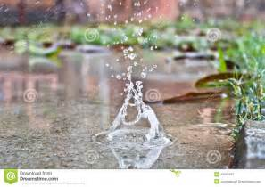 Hit The Ground Stock Image Image Of Water Rainy Drop