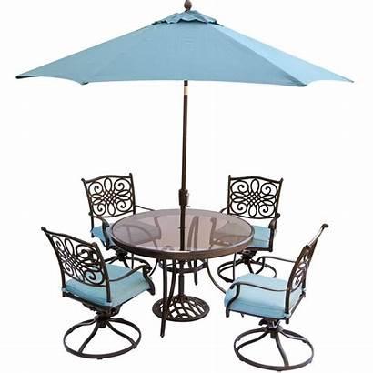 Dining Umbrella Chairs Round Glass Piece Patio