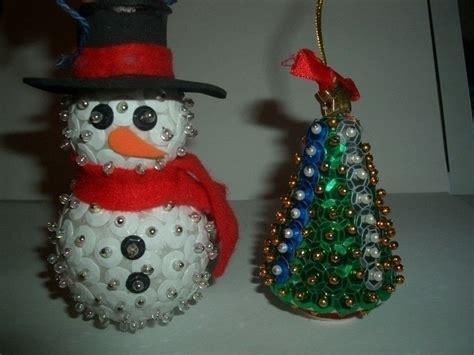 bead christmas tree  snowman  bauble decorating