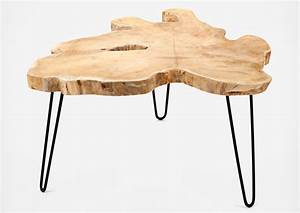 Table Basse Tronc : table basse tronc d 39 arbre design les esth tes ~ Teatrodelosmanantiales.com Idées de Décoration