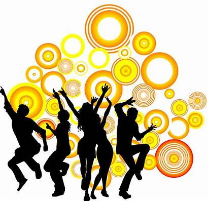 Dance Party Silhouette Clipart Circle Royalty Dancing